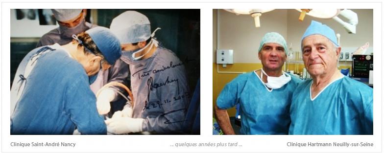 Le Dr Loncle au Bloc avec le Professeur Dautrey Chirurgien Maxillo-Facial Paris